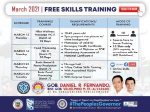 free skills training march 2021