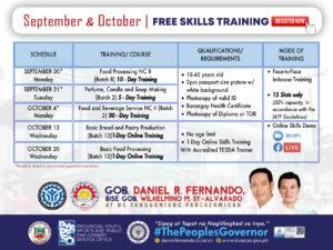 september october free skills training